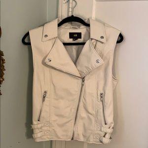 Sexy cream biker vest